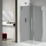 Mampara con cristal parsol gris para dar exclusividad a tu baño
