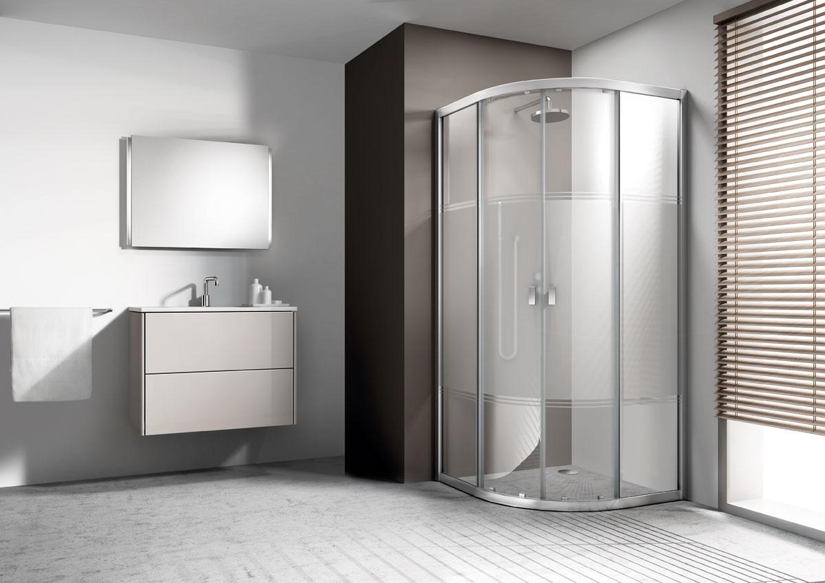 Mamparas ba o y ducha stildux decoradas tu ducha for Mamparas decoradas