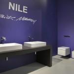 Sanitarios suspendidos y lavabos de la colección Nile de Flaminia