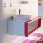 Con el lavabo Orbita y el mueble Casco conseguirás un entorno amable, seguro, confortable y simpático