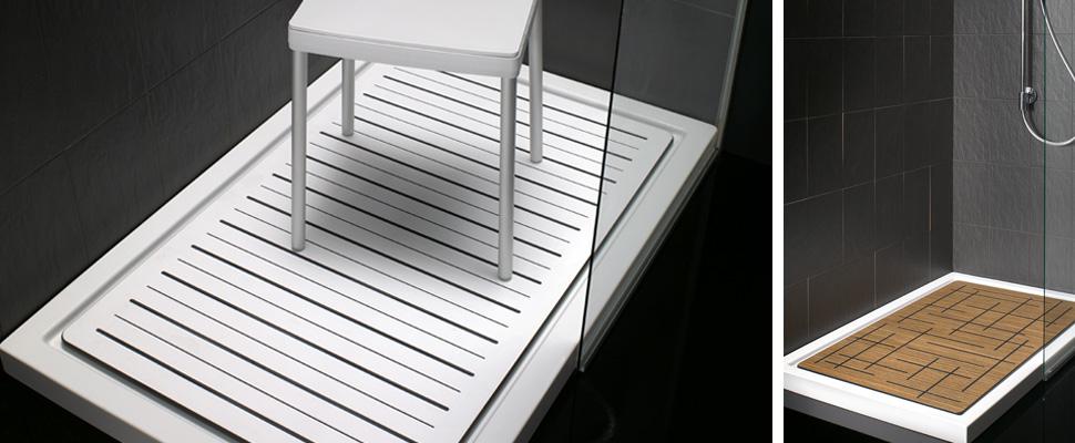 Complementos para tu ducha jaboneras barras de apoyo - Tarimas para platos de ducha ...